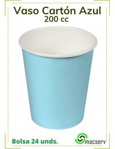 Vaso cartón Azul BABY 200 cc.
