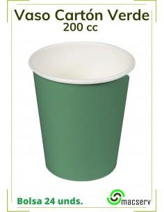 Vaso cartón Verde BABY 200 cc.