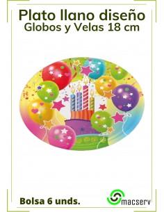 Plato llano diseño Globos y...
