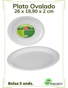 Plato Ovalado Biodegradable...