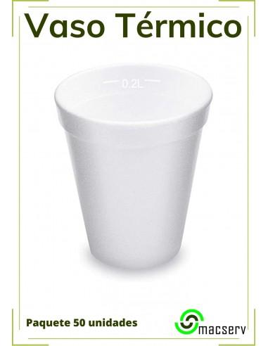 Vaso térmico Desechable ideal para fiestas y eventos